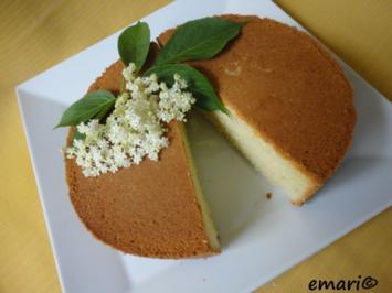 Rezept: Holunderblüten Kuchen