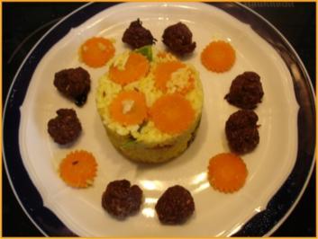 Reis mit Fleischbällchen - Rezept