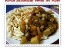 Vegetarisch: Mexikanisches Gemüse mit Nudeln - Rezept