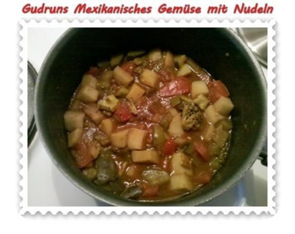 Vegetarisch: Mexikanisches Gemüse mit Nudeln - Rezept - Bild Nr. 2