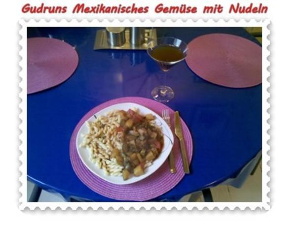 Vegetarisch: Mexikanisches Gemüse mit Nudeln - Rezept - Bild Nr. 5