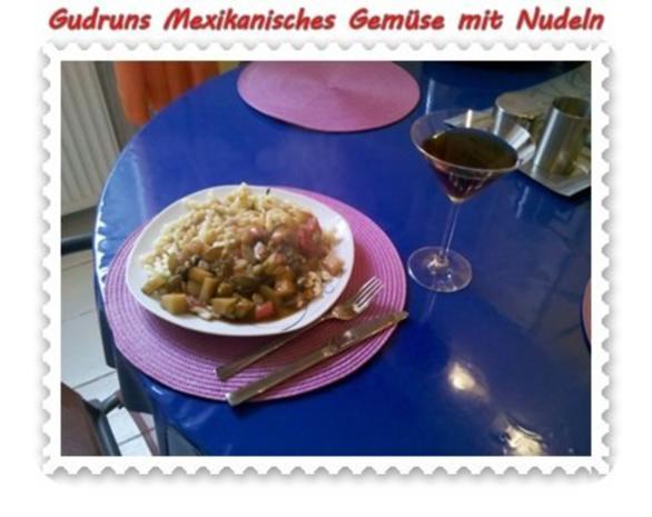 Vegetarisch: Mexikanisches Gemüse mit Nudeln - Rezept - Bild Nr. 6