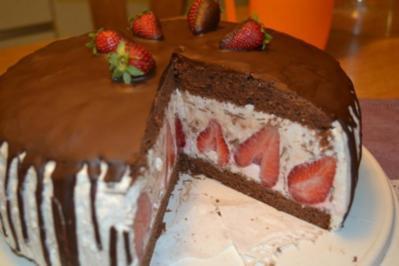 Stracciatella – Erdbeer – Schoko – Torte - Rezept