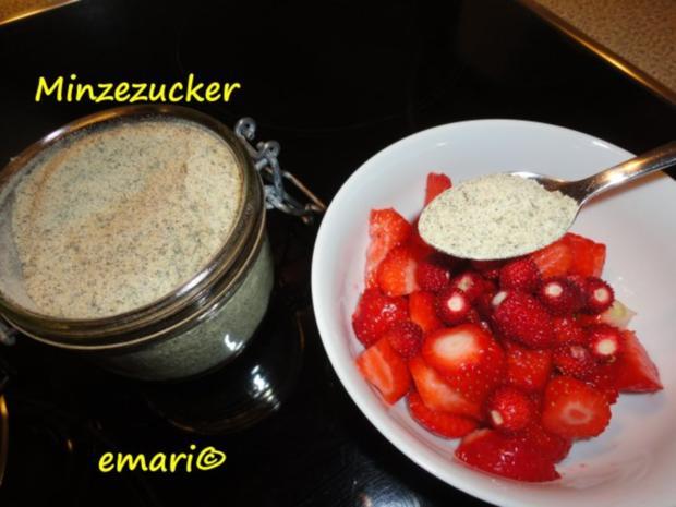 Minze Zucker - Rezept