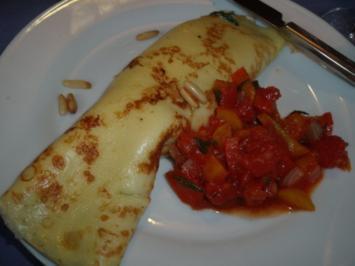 Spinat-Käse-Pfannkuchen - Rezept