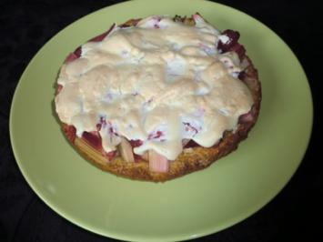 Himbeer-Rhabarber-Kuchen (Springform 20cm Durchmesser) - Rezept