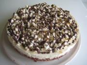 Popkorn-Zitronenquark-Torte - Rezept