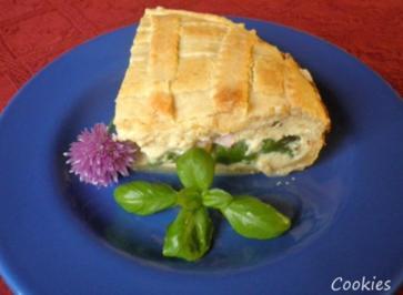 Torta di asparagi - Spargelkuchen mit Ricotta und Schinken - Rezept