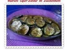 Fisch: Cajun-Zander im Zucchinibett - Rezept