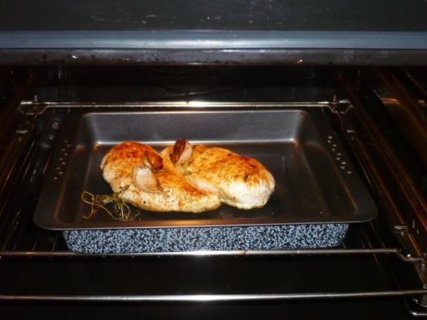 Gebratene Hähnchenbrust mit weißer Pfeffersoße und Karottenquiche - Rezept - Bild Nr. 8