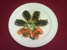 Lammfilet à la Charles mit Karotten und Frühlingszwiebeln - Rezept