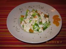 Kopfsalat mit Mandarinen und Hirtenkäse - Rezept