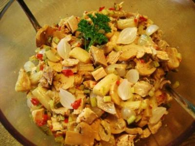 Salat vom Suppenhuhn - ohne Mayonnaise ... - Rezept