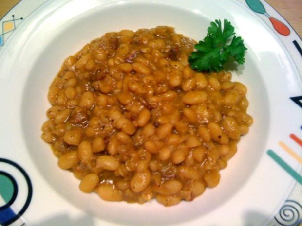 Baked Beans mit Bacon und Cider - Rezept