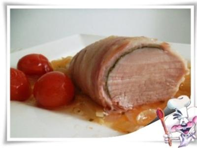Schweinefilet im Salbei-Speckmantel - Rezept