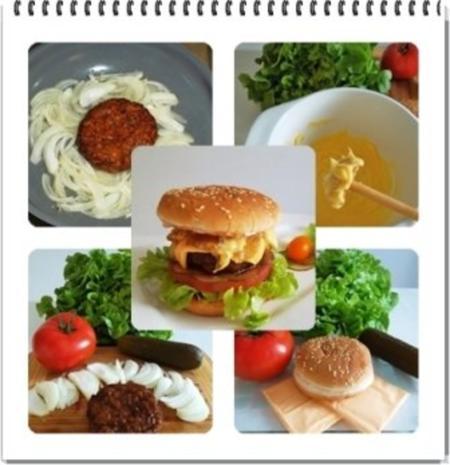 Hamburger mit Kraussalat und selbst hergestellter Mayonnaise. - Rezept - Bild Nr. 2
