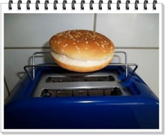 Hamburger mit Kraussalat und selbst hergestellter Mayonnaise. - Rezept - Bild Nr. 6