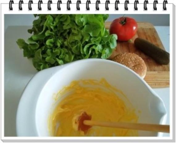 Hamburger mit Kraussalat und selbst hergestellter Mayonnaise. - Rezept - Bild Nr. 7