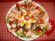 Bunter Salat mit Fleischwurst - Rezept
