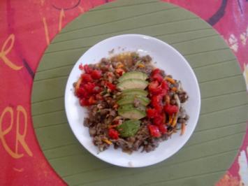 Linsensalat mit Avocado - Rezept