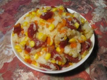 Chinesische Reis-Gemüse-Pfanne - Vegan - Rezept