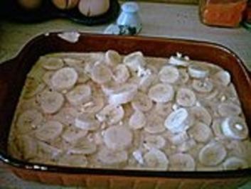 Apfel - Bananenauflauf mit Mandeln - Rezept