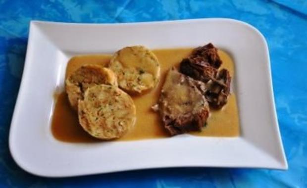 Kochen:Sauerbraten mit Serviettenknödel - Rezept