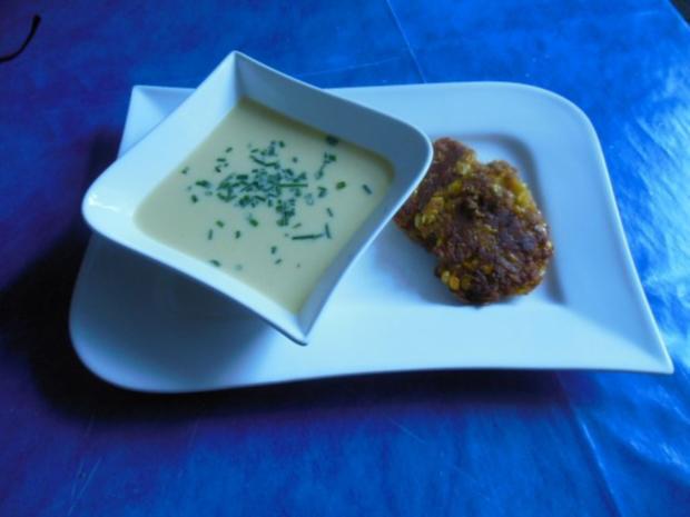Suppe: Maissuppe mit Maisblinis - Rezept