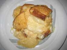 Brot Käse-Auflauf mit Birnen - Rezept
