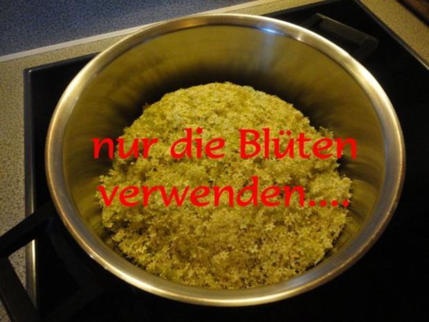 Holunderblüten Sirup - heiß eingekocht - Rezept - Bild Nr. 3
