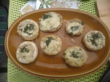 Antipasti - gefüllte Champignons vom Grill - Rezept