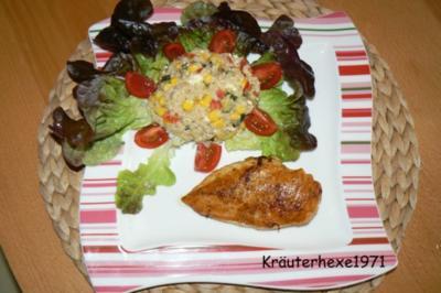 Graupensalat mit Hähnchenbrustfilet - Rezept