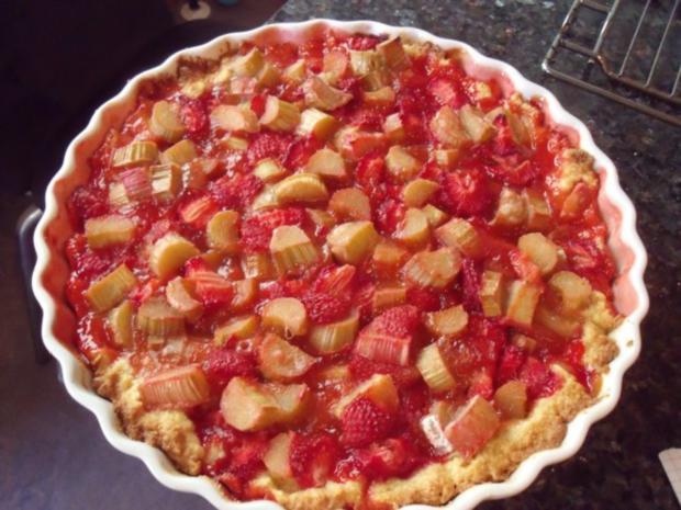 Erdbeer-Rhabarber-Tarte - Rezept