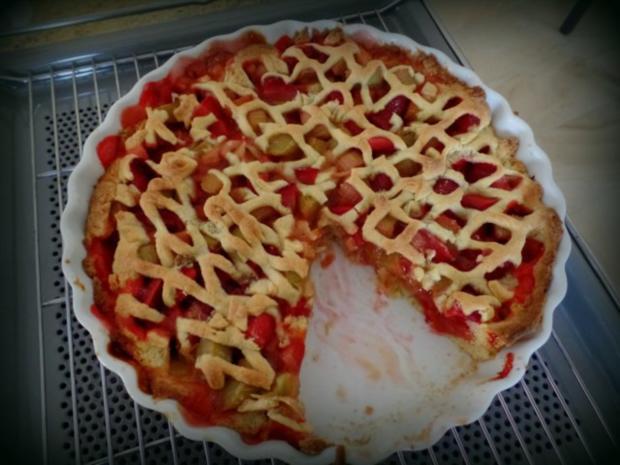 Erdbeer-Rhabarber-Tarte - Rezept - Bild Nr. 2