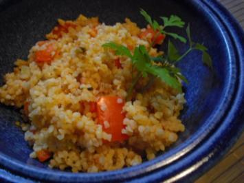Bulgur mit Paprika und Tomaten - Rezept