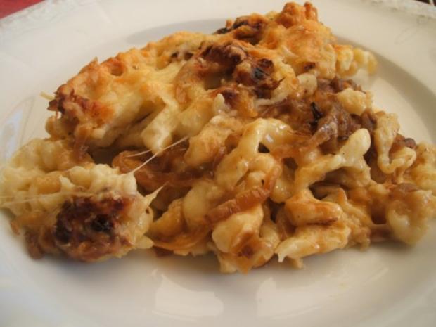 Auflauf: Käsespätzle - auch als Auflauf ein Genuss - Rezept