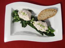 Kasseler-Mousse auf frischem Blattsalat - Rezept