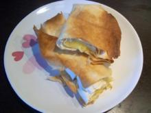 Pita mit Frischkäse- und Gemüsefüllung - Rezept