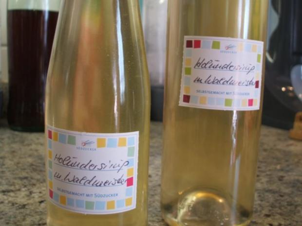 Vorrat: Holunder-Waldmeister-Sirup - Rezept