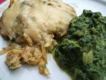Auflauf: Kräuterkartoffelschmarrn mit Käse überbacken - Rezept
