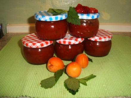 Vierfrucht Marmelade mit Stevia - Rezept