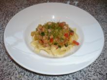 Linguine mit Schinken-Gemüse-Schmand-Sauce - Rezept