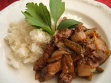 Fleisch: Rouladen, nicht gerollt, sondern aus dem Wok - Rezept