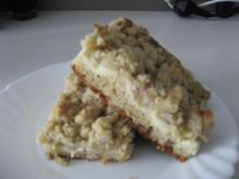 Rhabarber-Streuselkuchen mit Vanillepudding - Rezept