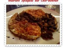 Eier: Spiegelei auf Chili-Bohnen - Rezept