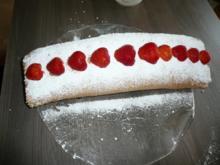 Erdbeere - Biskuit - Rolle - Rezept