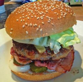 "Rezept: Maxi Hamburger ""all-in"""