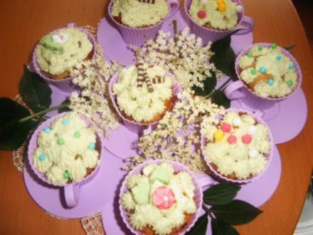Holunderblütenssirup -Cup-Cakes - Rezept