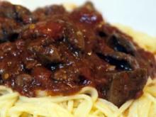 Spaghetti mit Geflügelleber-Sugo - Rezept