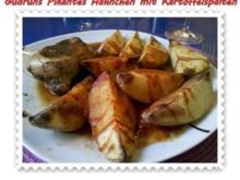 Geflügel: Pikantes Hähnchen mit Kartoffelspalten - Rezept